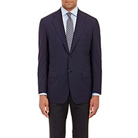 Kiton Men's Kb Drop 8 Two Button Sportcoat Navy