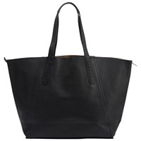 Liebeskind Niigata Reversible Leather Shopper Bag Ninja Black