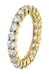 Cz By Kenneth Jay Lane Cz Pave Band Ring No Color