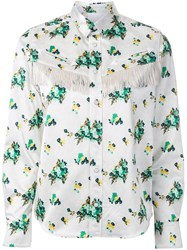 Toga Flower Print Shirt White