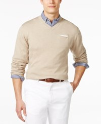 Ryan Seacrest Distinction V Neck Pocket Sweater Only At Macy's Linen Heather