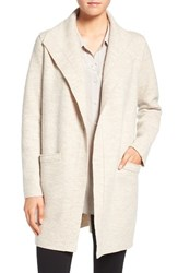 Eileen Fisher Women's Boiled Wool Funnel Neck Coat Sea Salt