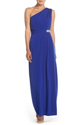 Women's Ellen Tracy Embellished Jersey Fit And Flare Gown