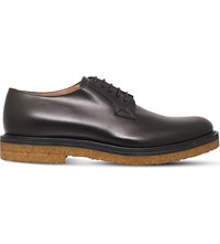 Dries Van Noten Crepe Leather Derby Shoes Black