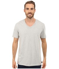 Kenneth Cole Reaction Heather V Neck Tee Light Grey Heather Men's T Shirt Gray