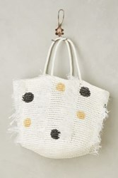 Anthropologie Dotted Seaside Tote Neutral