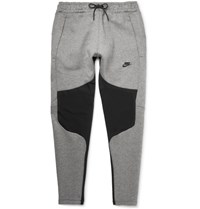 Nike Tapered Panelled Cotton Blend Tech Fleece Weatpant Gray