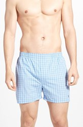 Men's Polo Ralph Lauren Woven Cotton Boxers White Blue