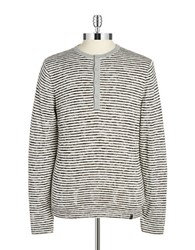Dkny Striped Henley Top White