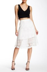 Cupcakes And Cashmere Pippen Lace Yoke A Line Skirt Beige