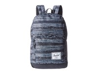 Herschel Pop Quiz White Noise Black Synthetic Leather Backpack Bags Gray