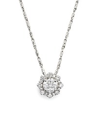 Bloomingdale's Diamond Cluster Pendant Necklace In 14K White Gold .60 Ct. T.W.