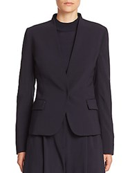 Piazza Sempione Tropical Weight Stretch Wool Jacket Navy