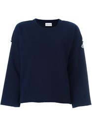 Moncler Loose Fit Sweatshirt Blue