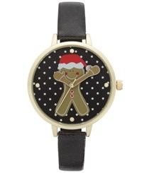 Charter Club Women's Black Strap Watch 40Mm Only At Macy's Gold