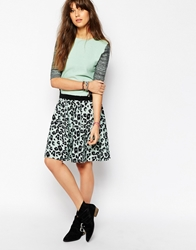 Maison Scotch Midi Skirt In Leopard Print Leopardprint