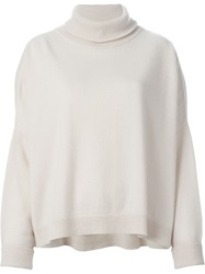 Dusan Roll Neck Sweater White