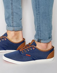 Jack And Jones Jack And Jones Spider Canvas Plimsoll Blue Green