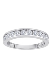 Allora Diamonds 10K White Gold Round Cut White Diamond Anniversary Band 0.50 Ctw Metallic