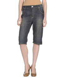 E Go' Sonia De Nisco Denim Capris Blue