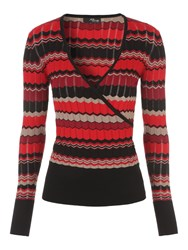 Jane Norman Chevron Wrap Jumper Multi Coloured Multi Coloured