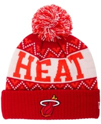 New Era Miami Heat Biggest Christmas Knit Hat
