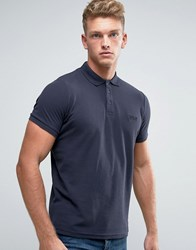 Firetrap Oil Washed Polo Shirt Navy
