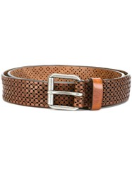 Paul And Joe Perforated Detailing Belt Brown