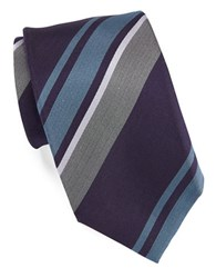 Vince Camuto Striped Silk Tie Purple