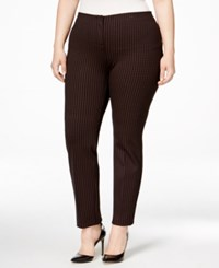 Alfani Plus Size Patterned Skinny Pants Only At Macy's Burgundy