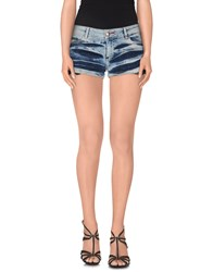 Philipp Plein Couture Denim Denim Shorts Women Blue