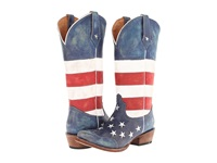 Roper American Flag Snip Toe Red White Blue Cowboy Boots Multi