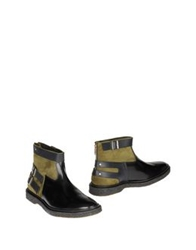 Adieu Ankle Boots Military Green