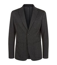 Z Zegna Micro Textured Jacket Male Dark Grey