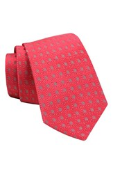 Gitman Brothers Vintage Men's Geometric Woven Silk Tie Coral