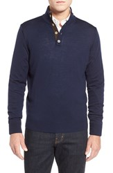 Men's Thomas Dean Merino Wool Sweater Navy