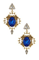Yochi Design Sapphire Art Deco Earrings Blue