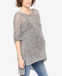 Motherhood Maternity High Low Sweater Grey