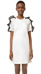 Opening Ceremony Ruffle T Shirt Dress White