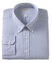 Van Heusen Big And Tall Blue Oxford Stripe Dress Shirt