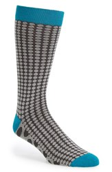 Men's Ted Baker London 'Contrast Spot' Socks Grey