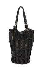 Zimmermann Link Leather Tote Black