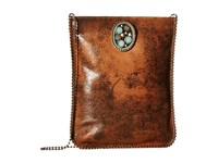 Leather Rock Ce34 Brandy Cross Body Handbags Brown