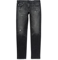 Ag Jeans Dylan Skinny Fit Distressed Denim Black