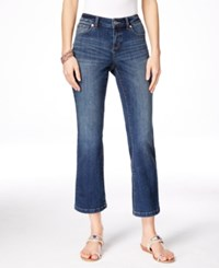 Inc International Concepts Cropped Indigo Wash Flare Leg Jeans Only At Macy's