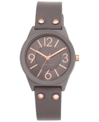 Nine West Women's Taupe Imitation Leather Strap Watch 36Mm Nw 1932Tprg