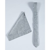 Minimum Grey Chandler Tie And Seattle Hankie