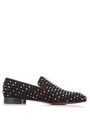 Christian Louboutin Dandelion Suede Spike Loafers Purple