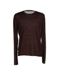 Massimo Rebecchi Knitwear Jumpers Men Dark Brown