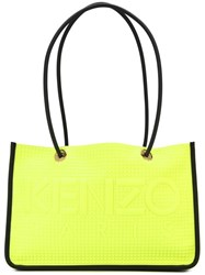 Kenzo Embossed Logo Tote Yellow And Orange
